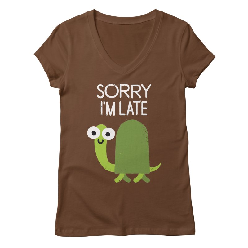 Tardy Animal Women's V-Neck by David Olenick