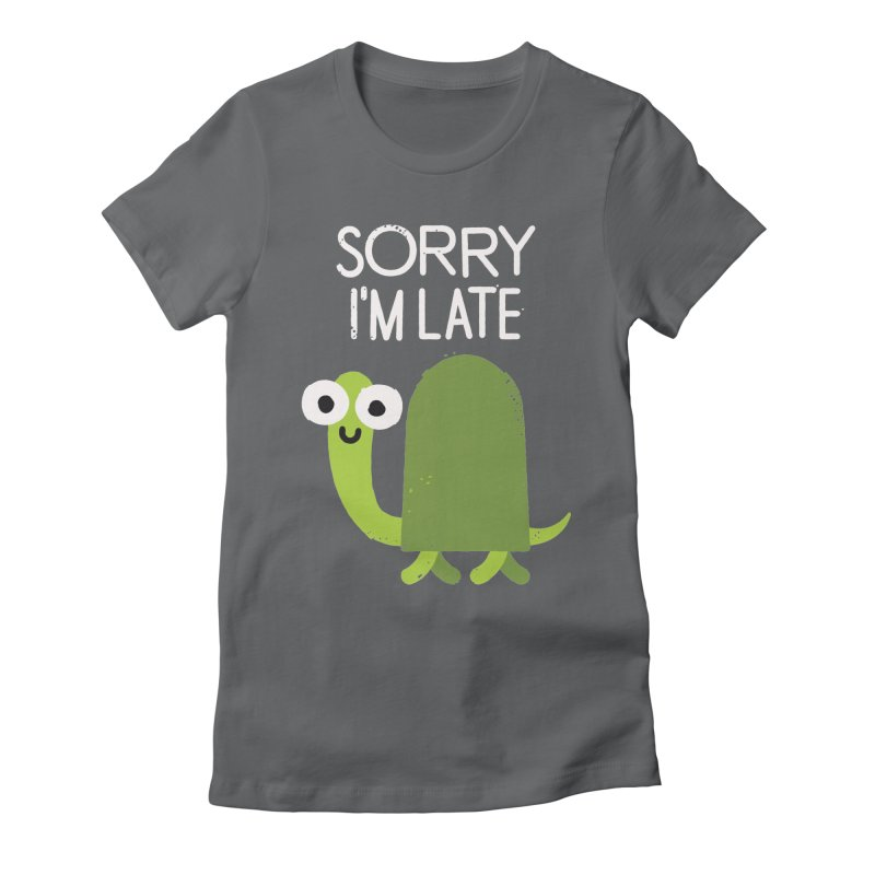 Tardy Animal Women's Fitted T-Shirt by David Olenick