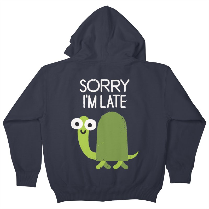 Tardy Animal Kids Zip-Up Hoody by David Olenick