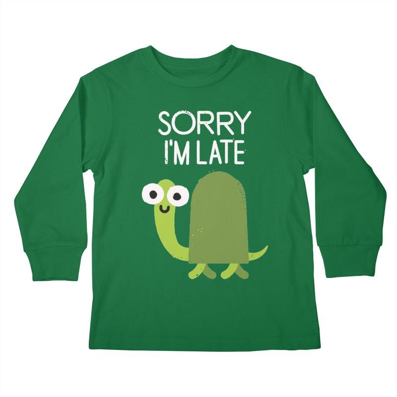 Tardy Animal Kids Longsleeve T-Shirt by David Olenick
