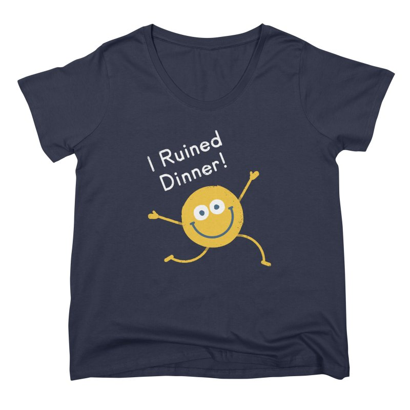 Food For Naught Women's Scoop Neck by David Olenick