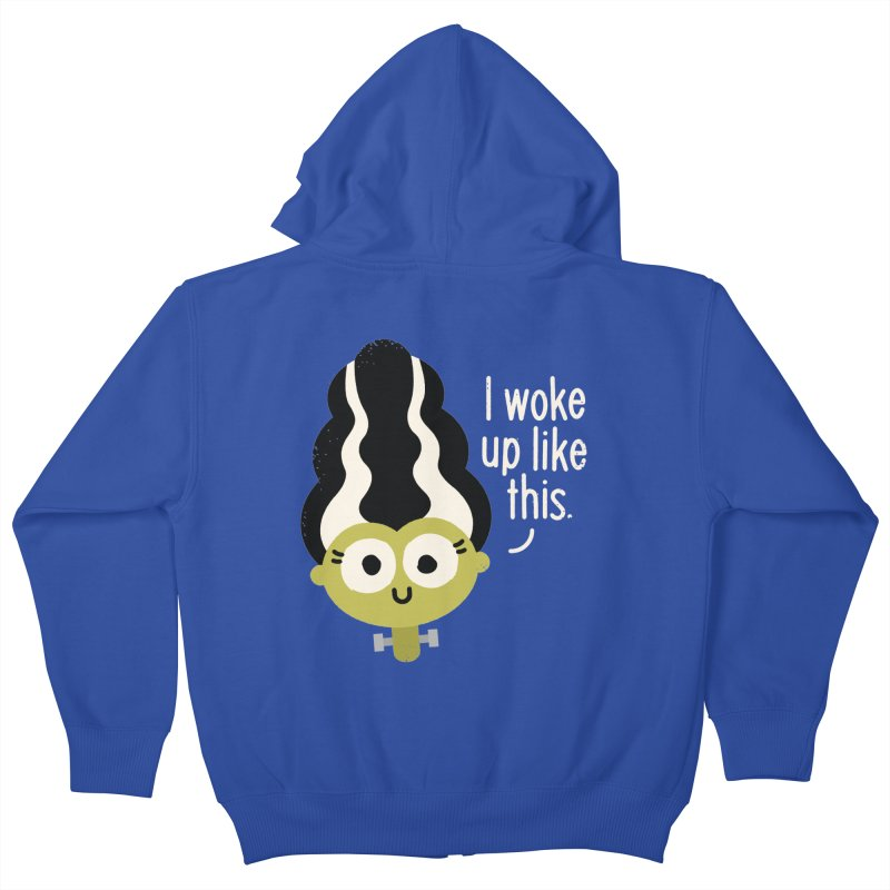 Bride Hair Day Kids Zip-Up Hoody by David Olenick