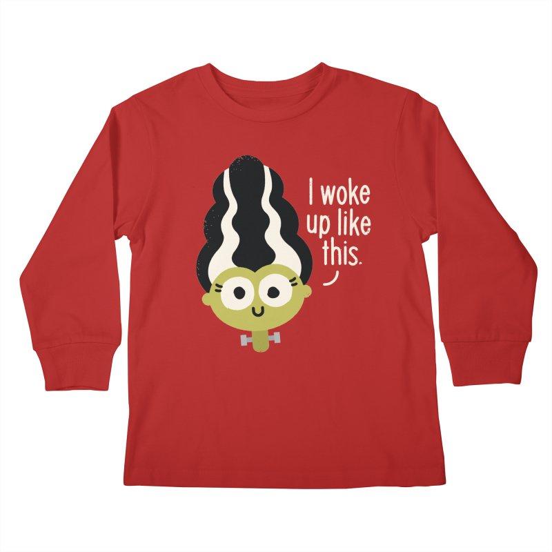 Bride Hair Day Kids Longsleeve T-Shirt by David Olenick
