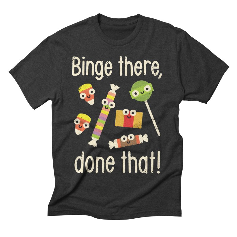 Half in the Bag Again Men's Triblend T-shirt by David Olenick