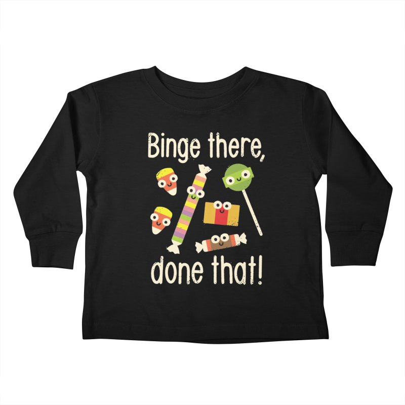 Half in the Bag Again Kids Toddler Longsleeve T-Shirt by David Olenick