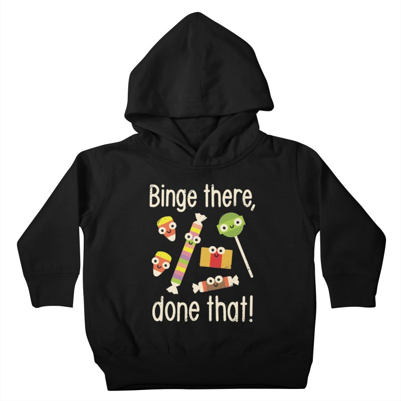 Half in the Bag Again Kids Toddler Pullover Hoody by David Olenick