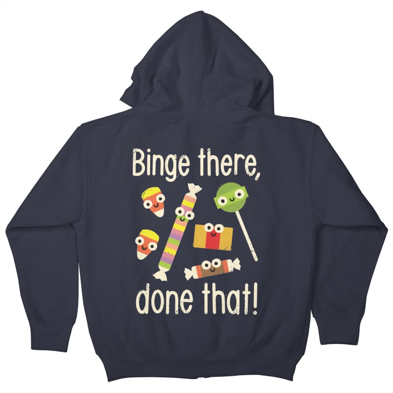 Half in the Bag Again Kids Zip-Up Hoody by David Olenick