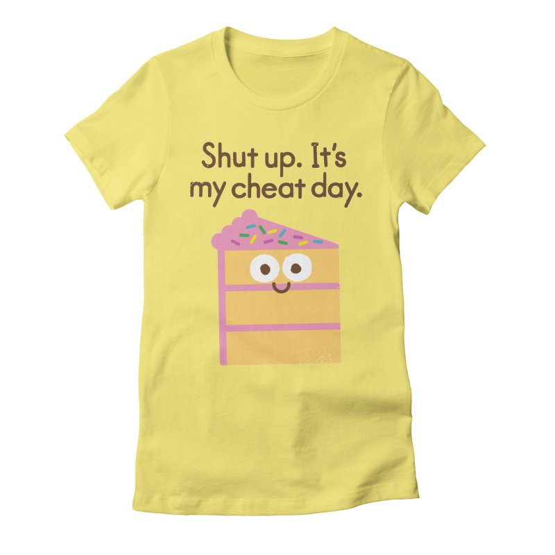 Taking the Cake Women's Fitted T-Shirt by David Olenick