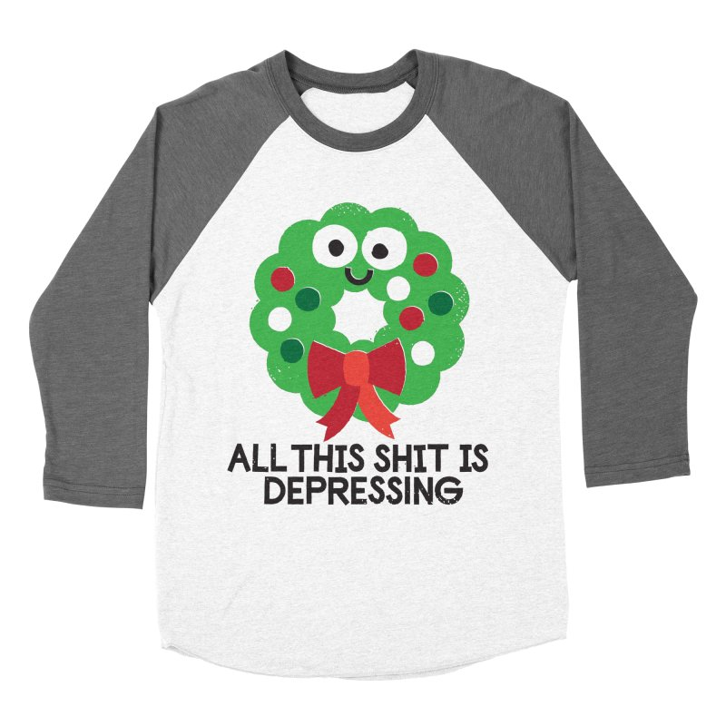 Ho Ho Hopeless Women's Baseball Triblend Longsleeve T-Shirt by David Olenick