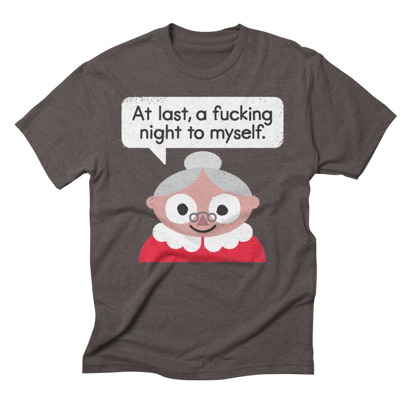 The Claus Come Out Men's Triblend T-Shirt by David Olenick