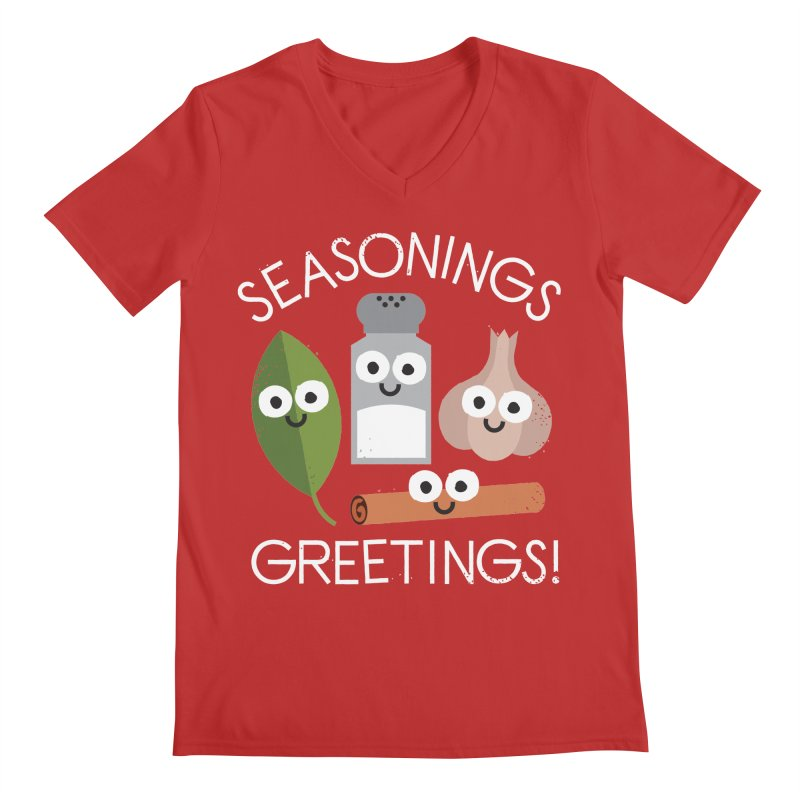 My Flavorite Things Men's V-Neck by David Olenick