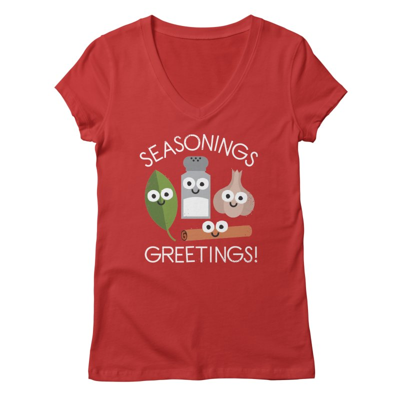 My Flavorite Things Women's V-Neck by David Olenick