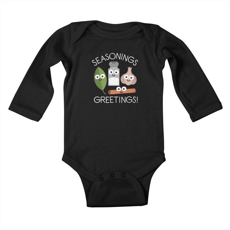 My Flavorite Things Kids Baby Longsleeve Bodysuit by David Olenick