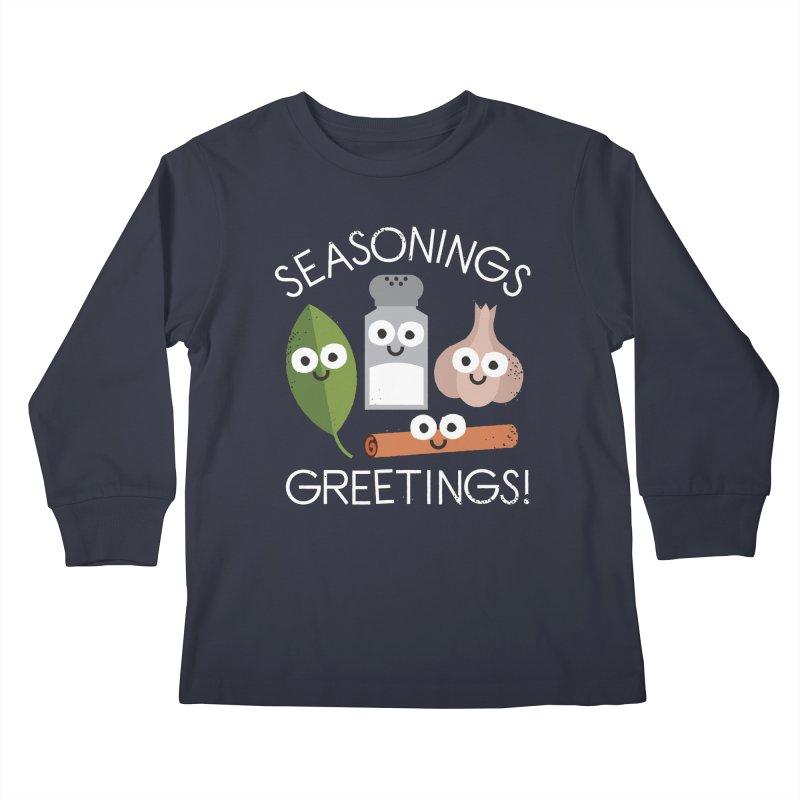 My Flavorite Things Kids Longsleeve T-Shirt by David Olenick