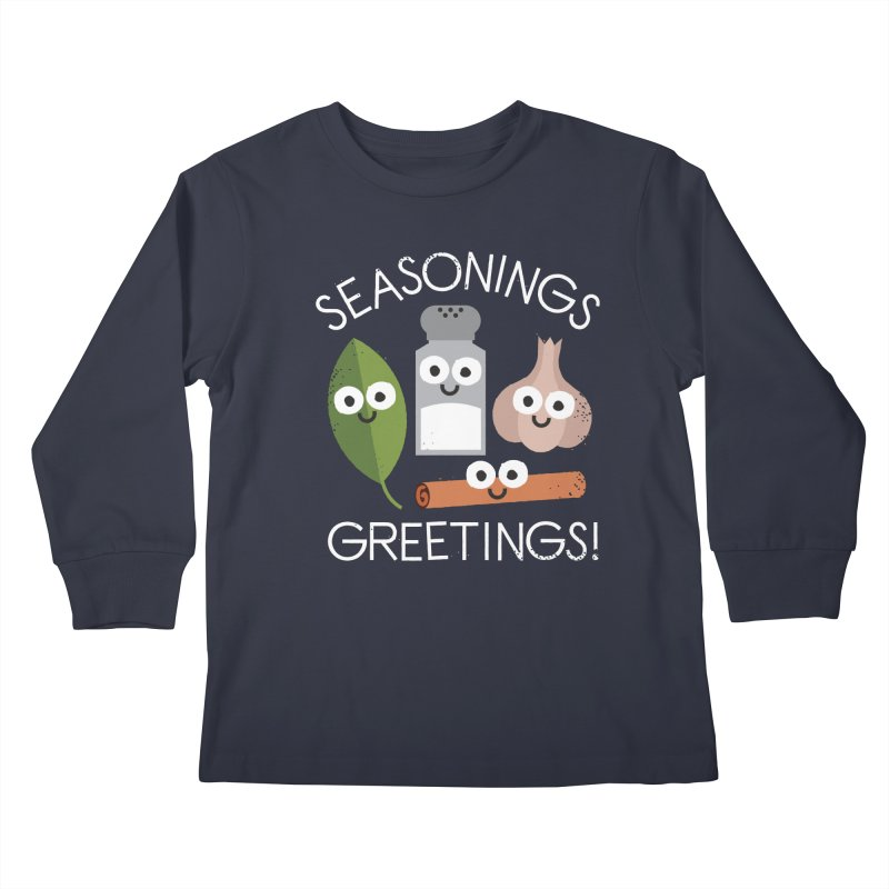 My Flavorite Things Kids Longsleeve T-Shirt by David Olenick
