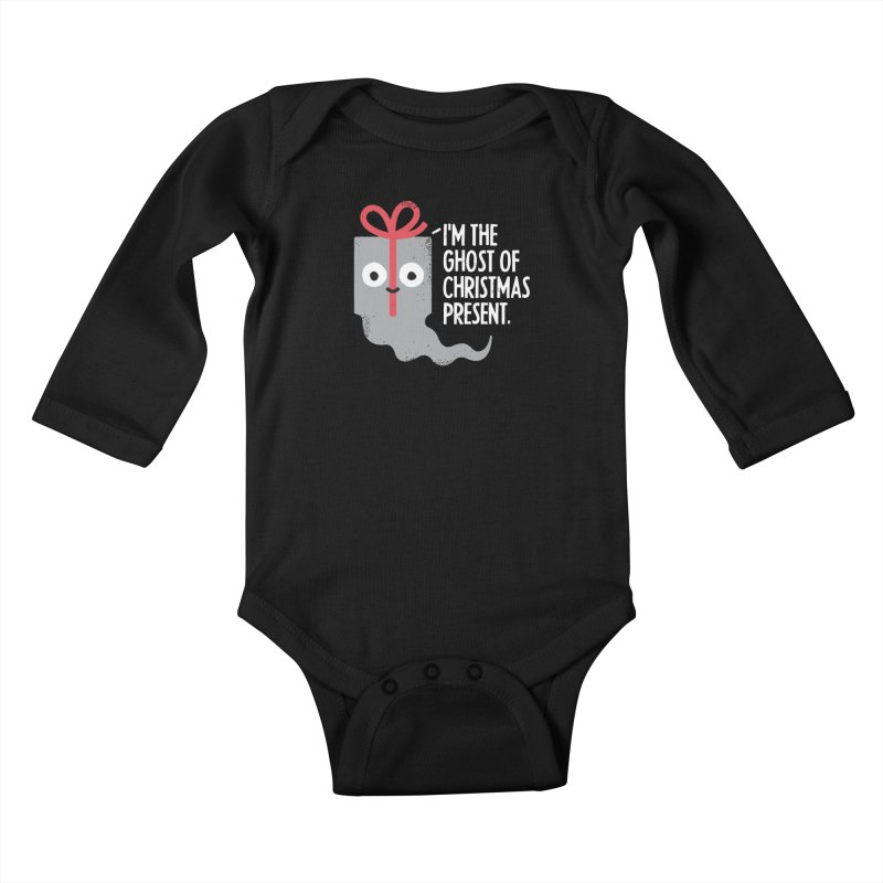 The Spirit of Giving Kids Baby Longsleeve Bodysuit by David Olenick