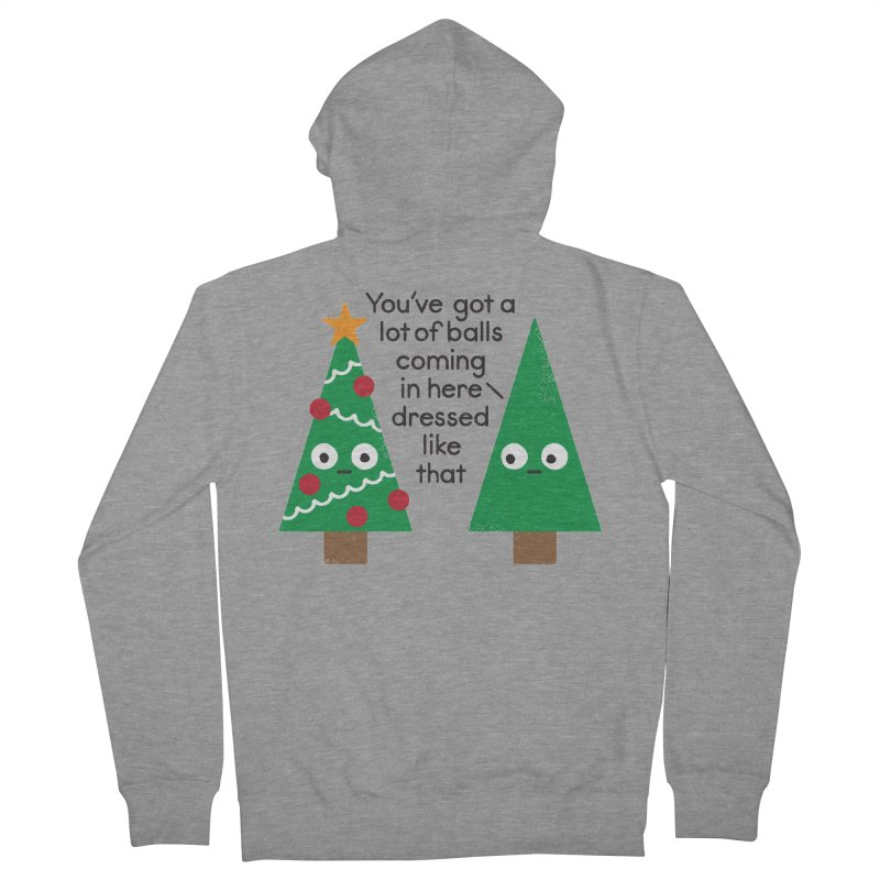 Spruced Up Men's Zip-Up Hoody by David Olenick