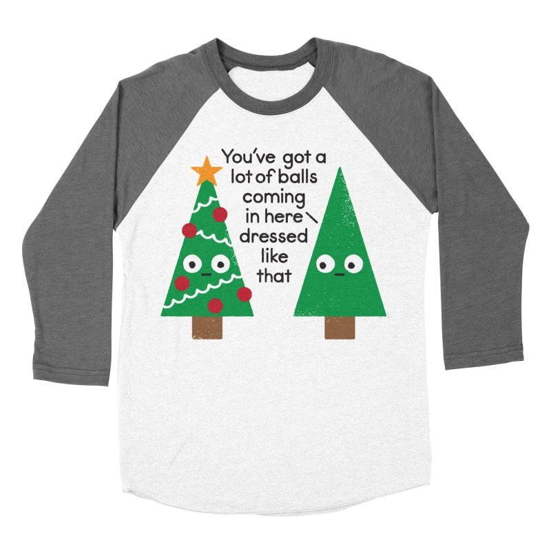 Spruced Up Women's Baseball Triblend T-Shirt by David Olenick