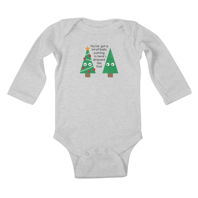 Spruced Up Kids Baby Longsleeve Bodysuit by David Olenick