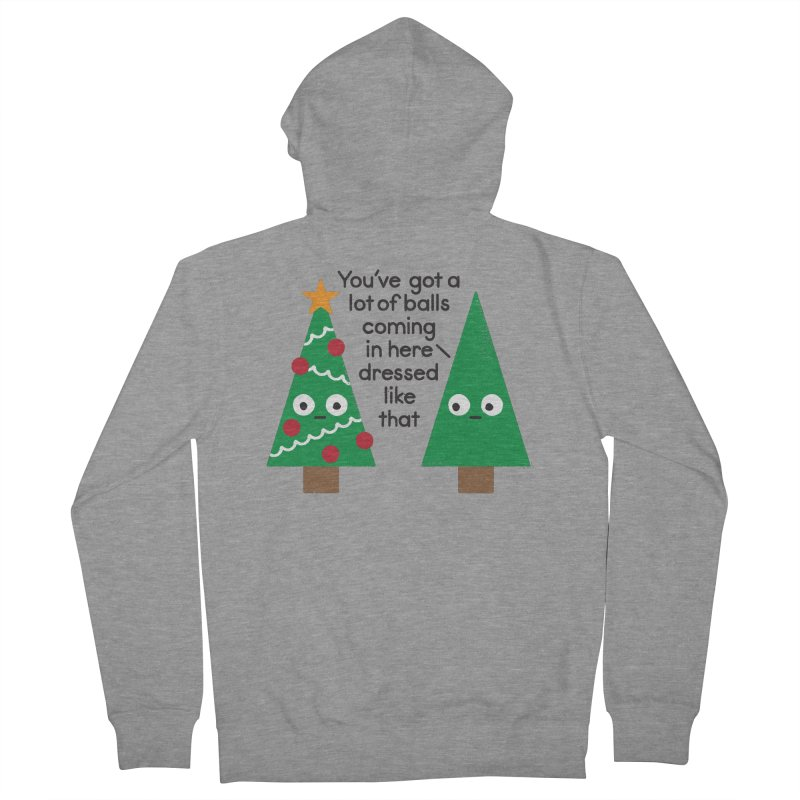 Spruced Up Women's Zip-Up Hoody by David Olenick