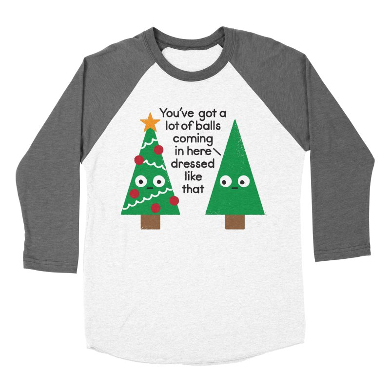 Spruced Up Women's Baseball Triblend Longsleeve T-Shirt by David Olenick