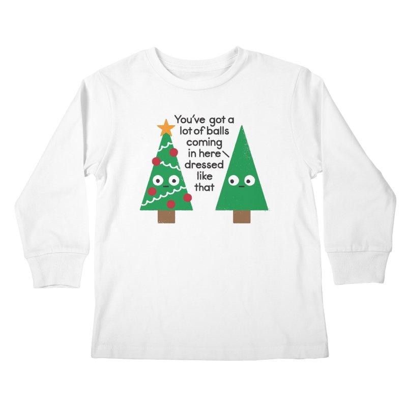Spruced Up Kids Longsleeve T-Shirt by David Olenick