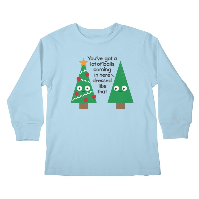 Spruced Up Kids Longsleeve T-Shirt by David Olenick