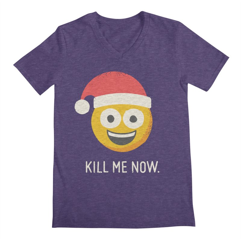 Season's Gratings Men's V-Neck by David Olenick
