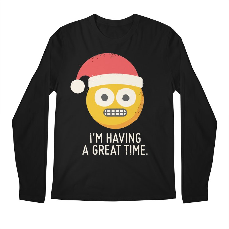 White Knuckle Christmas Men's Longsleeve T-Shirt by David Olenick