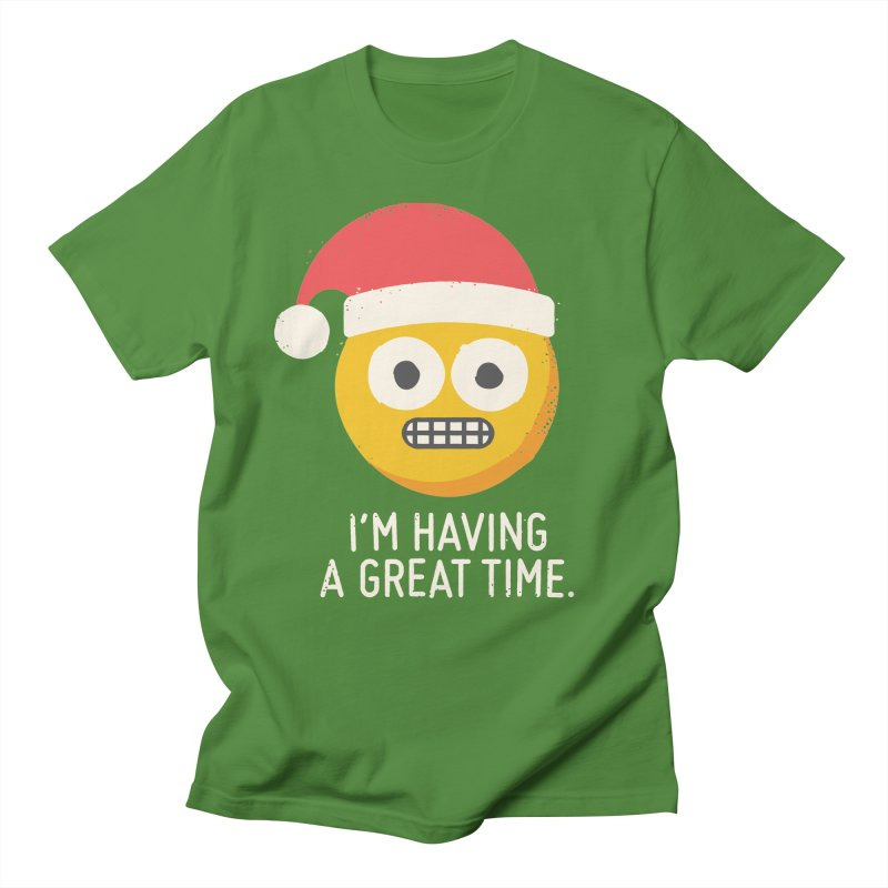 White Knuckle Christmas in Women's Unisex T-Shirt Clover by David Olenick