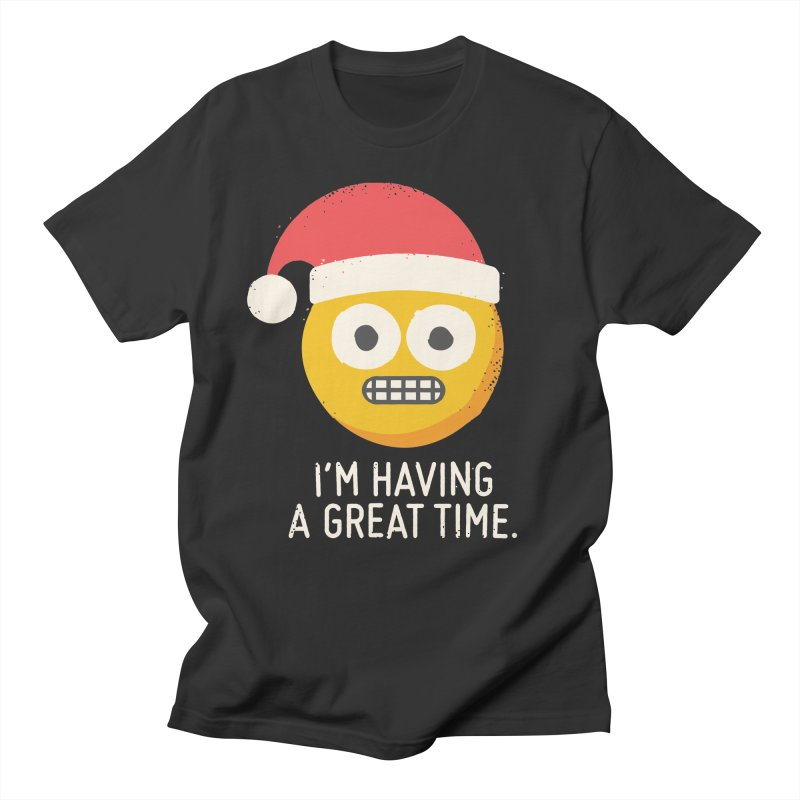 White Knuckle Christmas Men's T-Shirt by David Olenick