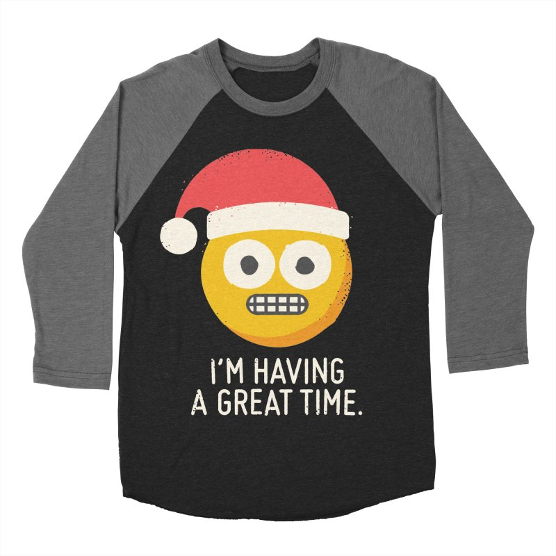 White Knuckle Christmas Men's Baseball Triblend T-Shirt by David Olenick