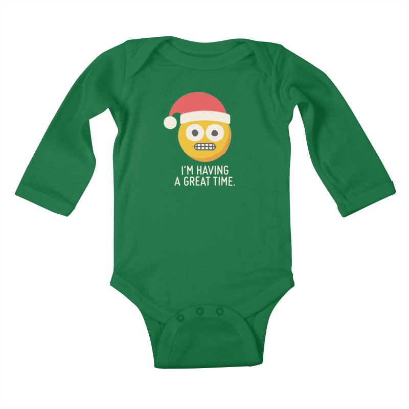 White Knuckle Christmas Kids Baby Longsleeve Bodysuit by David Olenick