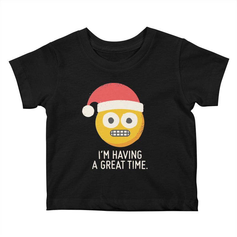 White Knuckle Christmas Kids Baby T-Shirt by David Olenick