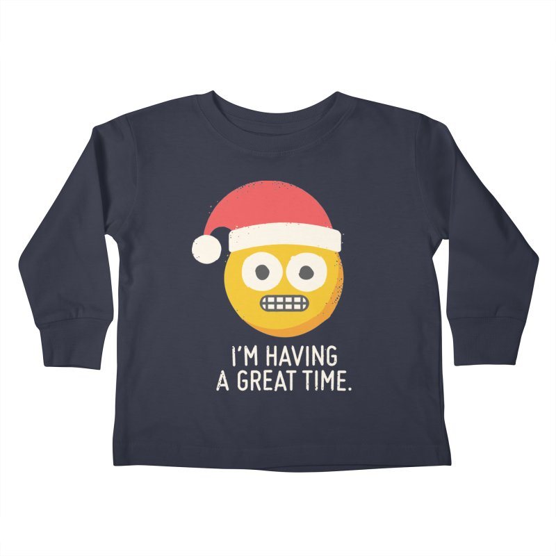 White Knuckle Christmas Kids Toddler Longsleeve T-Shirt by David Olenick
