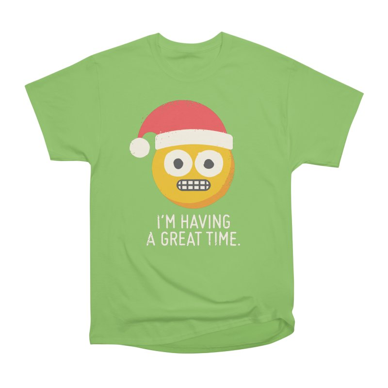 White Knuckle Christmas Men's Heavyweight T-Shirt by David Olenick