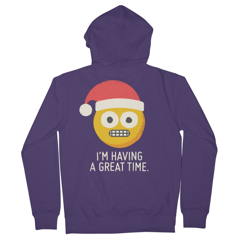 White Knuckle Christmas Women's Zip-Up Hoody by David Olenick
