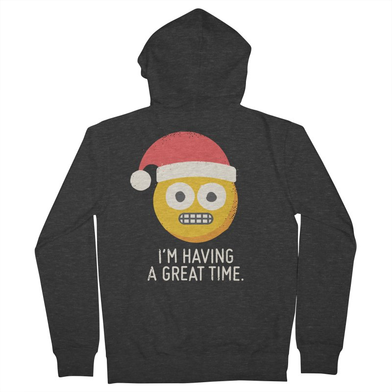 White Knuckle Christmas Men's Zip-Up Hoody by David Olenick