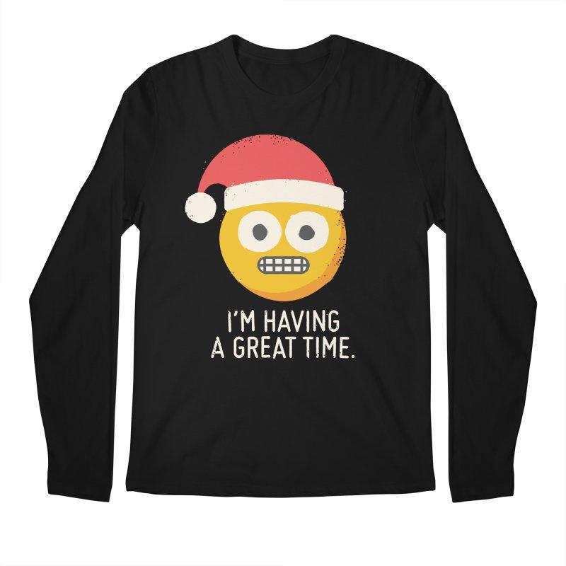 White Knuckle Christmas Men's Regular Longsleeve T-Shirt by David Olenick