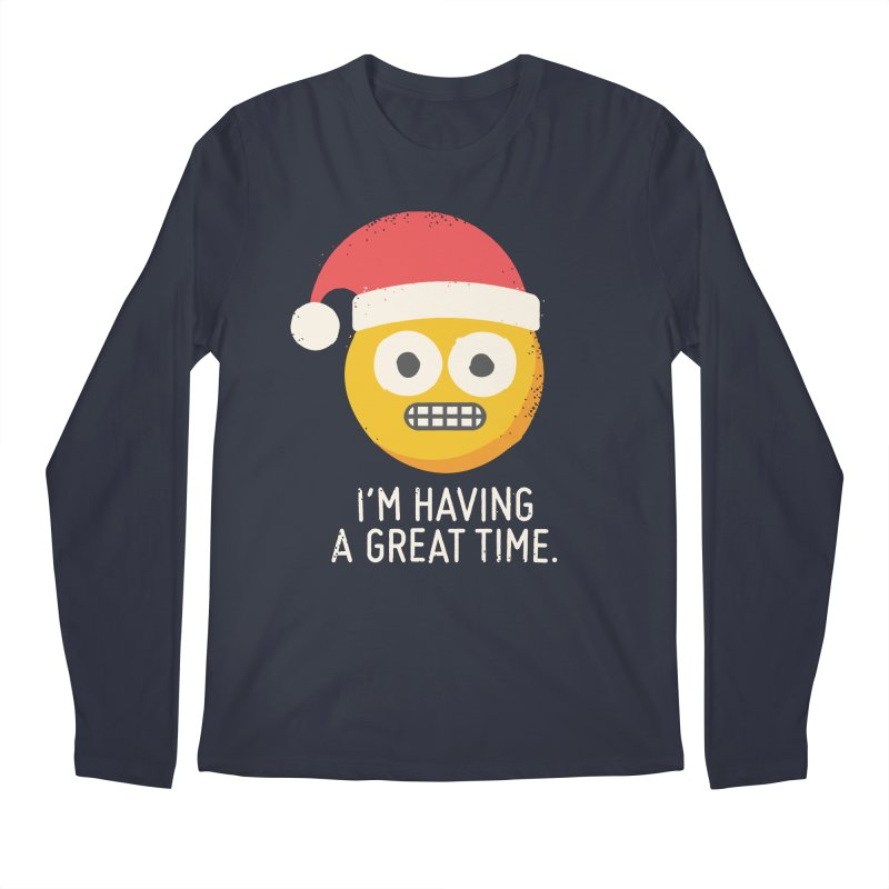 White Knuckle Christmas Men's Longsleeve T-Shirt by David Olenick