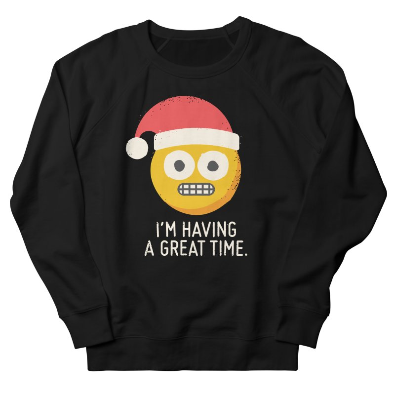 White Knuckle Christmas Women's French Terry Sweatshirt by David Olenick