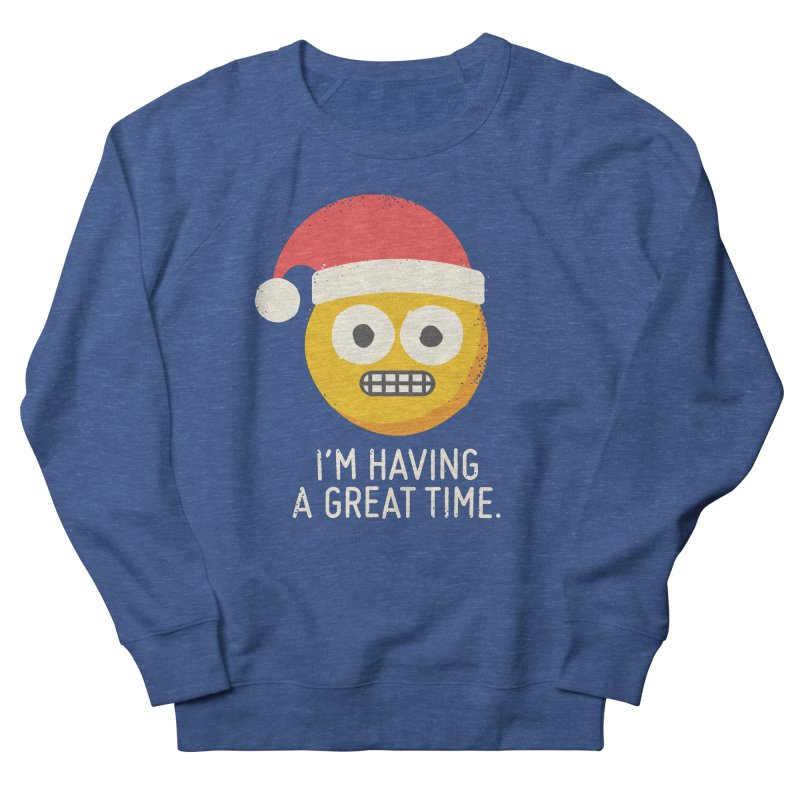 White Knuckle Christmas Men's French Terry Sweatshirt by David Olenick