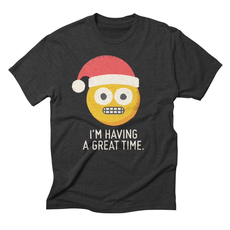 White Knuckle Christmas Men's Triblend T-Shirt by David Olenick