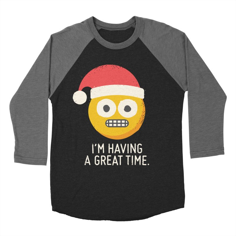 White Knuckle Christmas Women's Baseball Triblend T-Shirt by David Olenick
