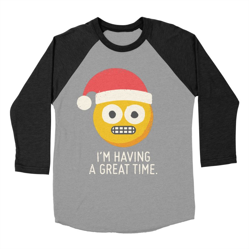 White Knuckle Christmas Women's Baseball Triblend Longsleeve T-Shirt by David Olenick
