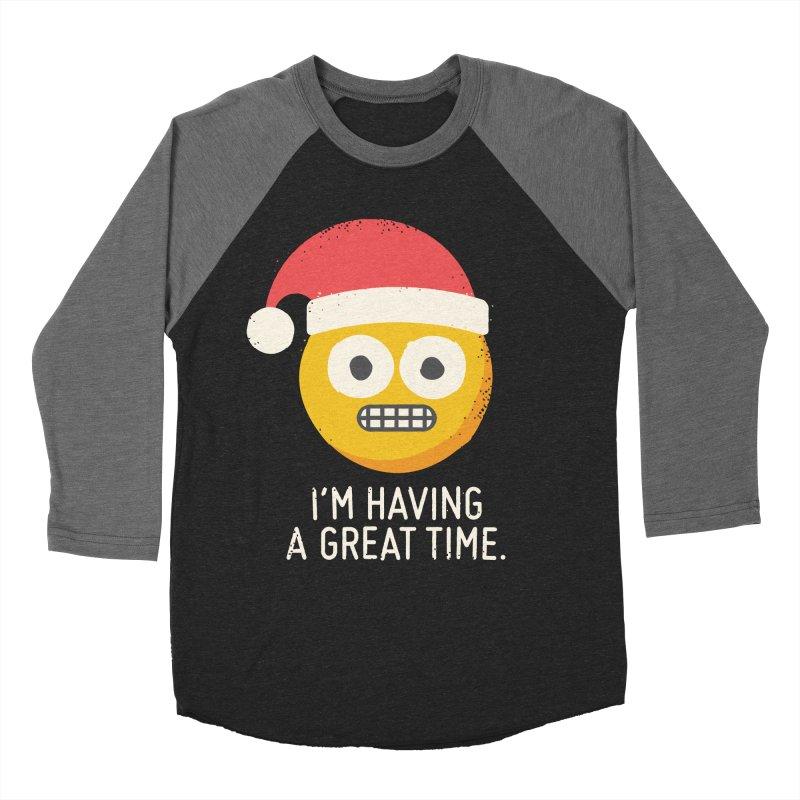 White Knuckle Christmas Men's Baseball Triblend T-Shirt by David Olenick