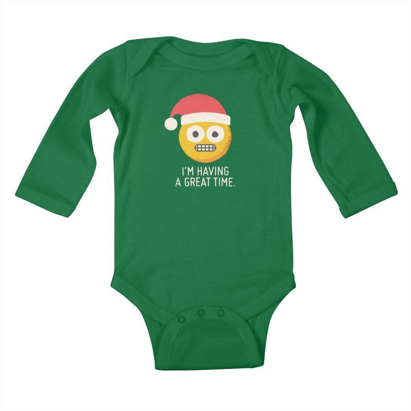 White Knuckle Christmas Kids Baby Longsleeve Bodysuit by David Olenick