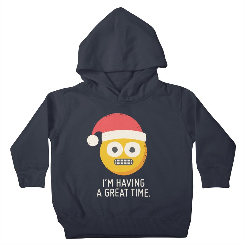 White Knuckle Christmas Kids Toddler Pullover Hoody by David Olenick