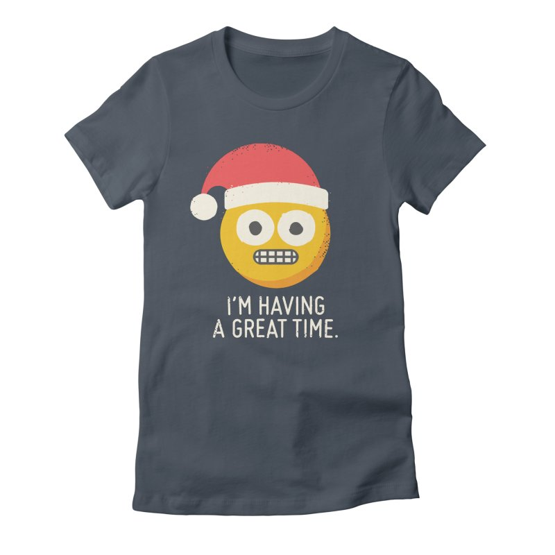 White Knuckle Christmas Women's French Terry Zip-Up Hoody by David Olenick