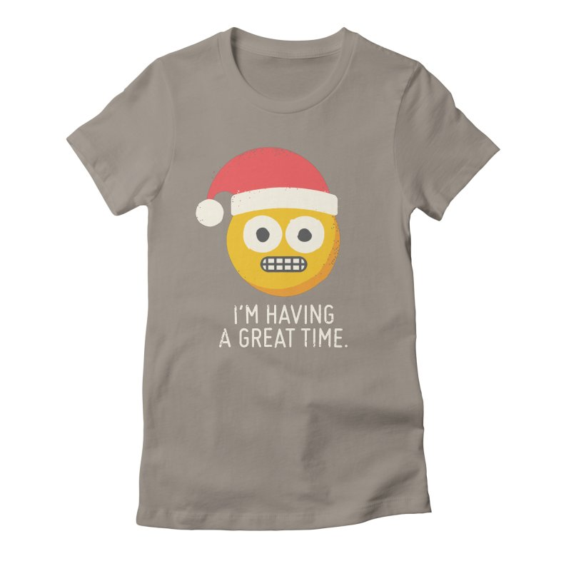 White Knuckle Christmas Women's Fitted T-Shirt by David Olenick